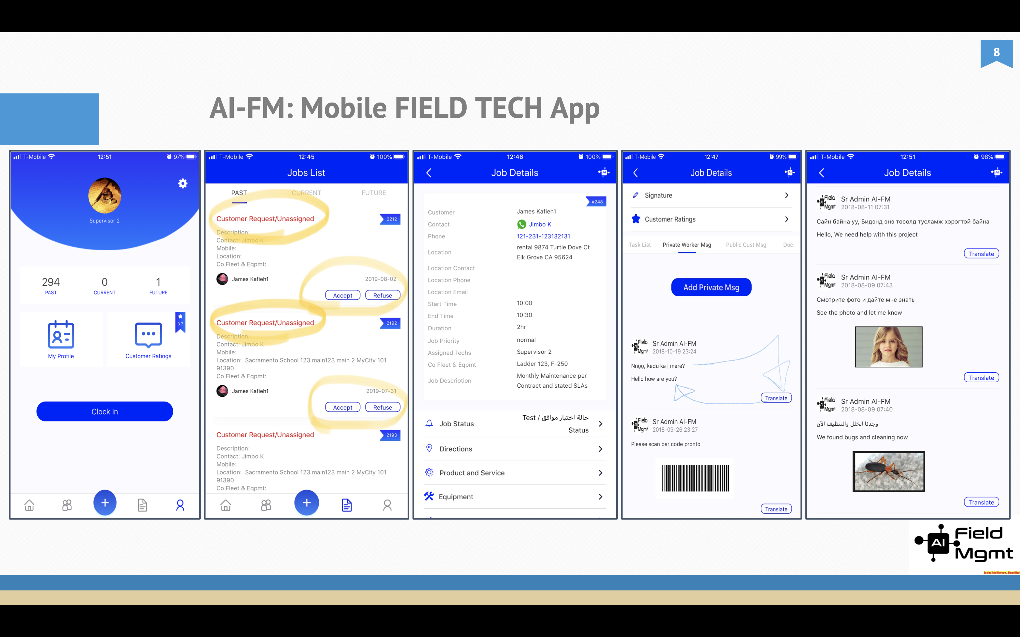 AI Field Mgmt FIELD TECH App (Native iOS/Android)