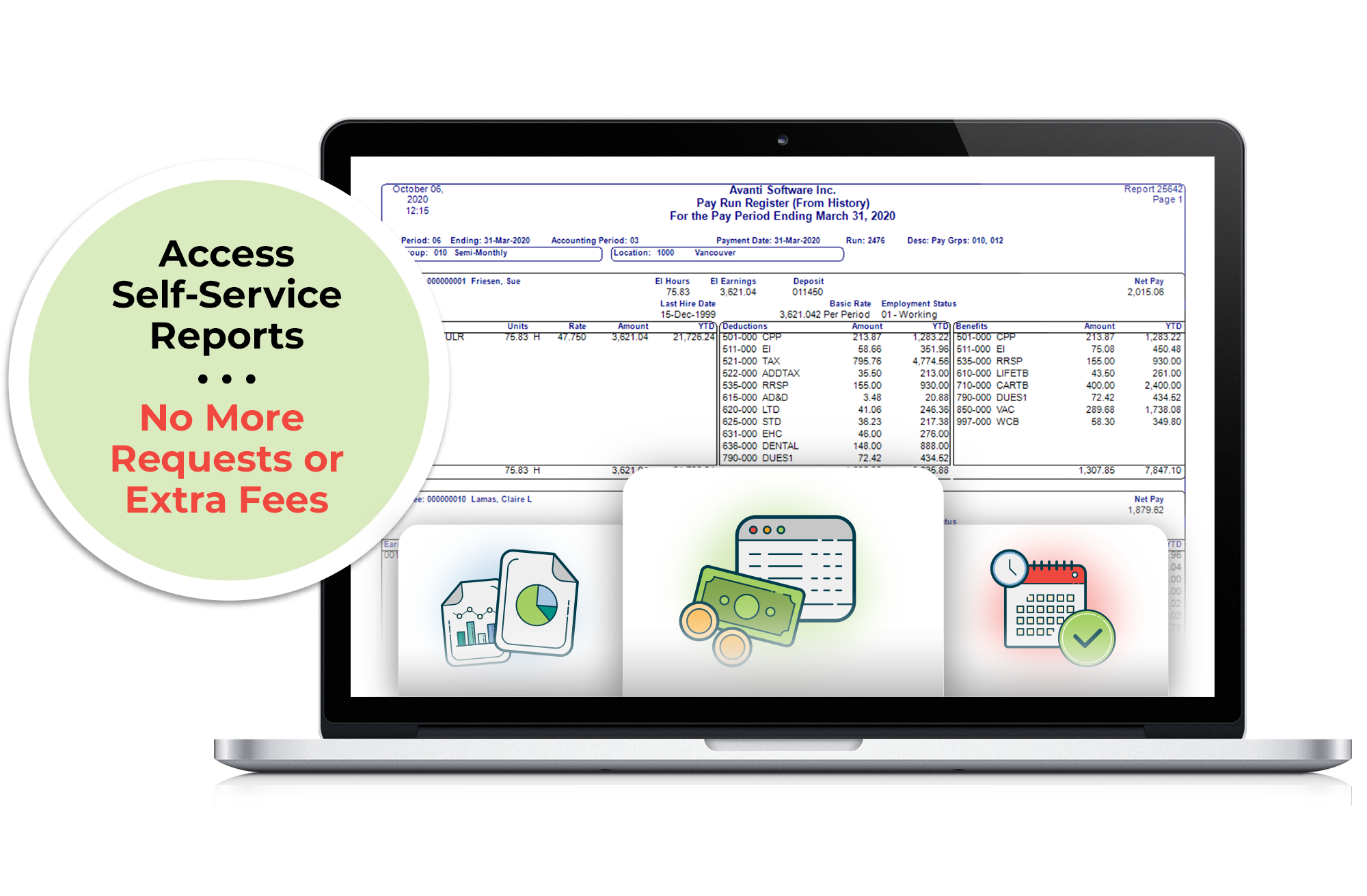 Configure reports with our robust report designer