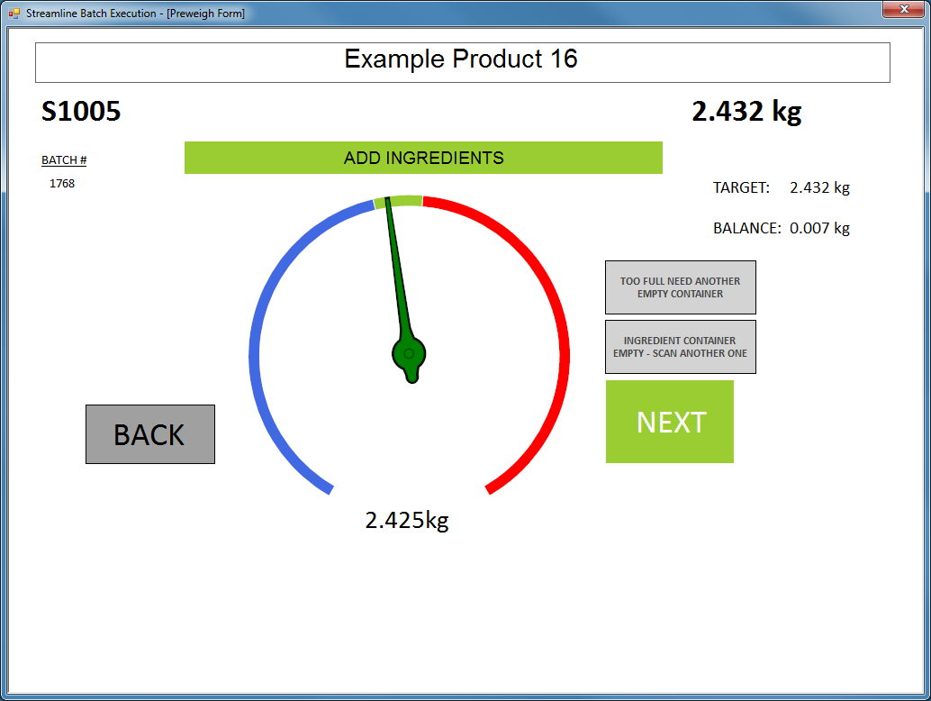 Mar-Kov Chemical Management System Software - Weighing
