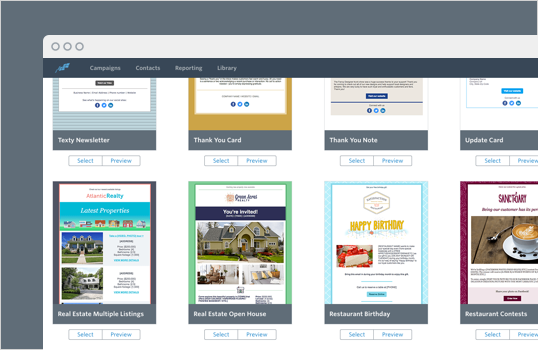 Select from a variety of conversion-optimized email templates
