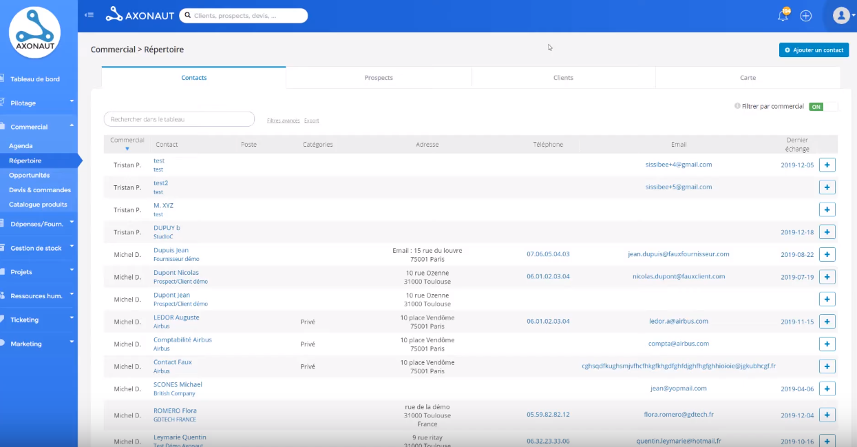 Axonaut screenshot: Axonaut reports
