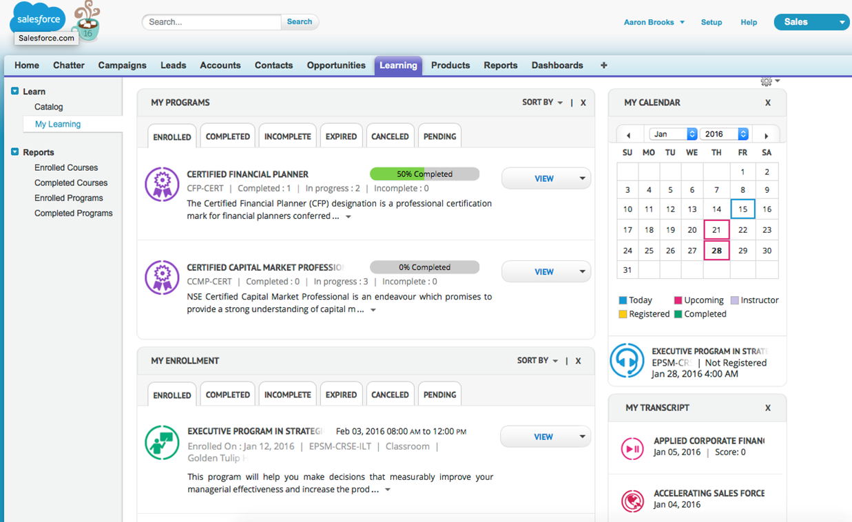 MyLearning in Salesforce