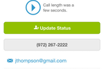 ReachEdge screenshot: ReachEdge also records all calls, which users can listen back to