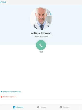 cContact screenshot: cContact call