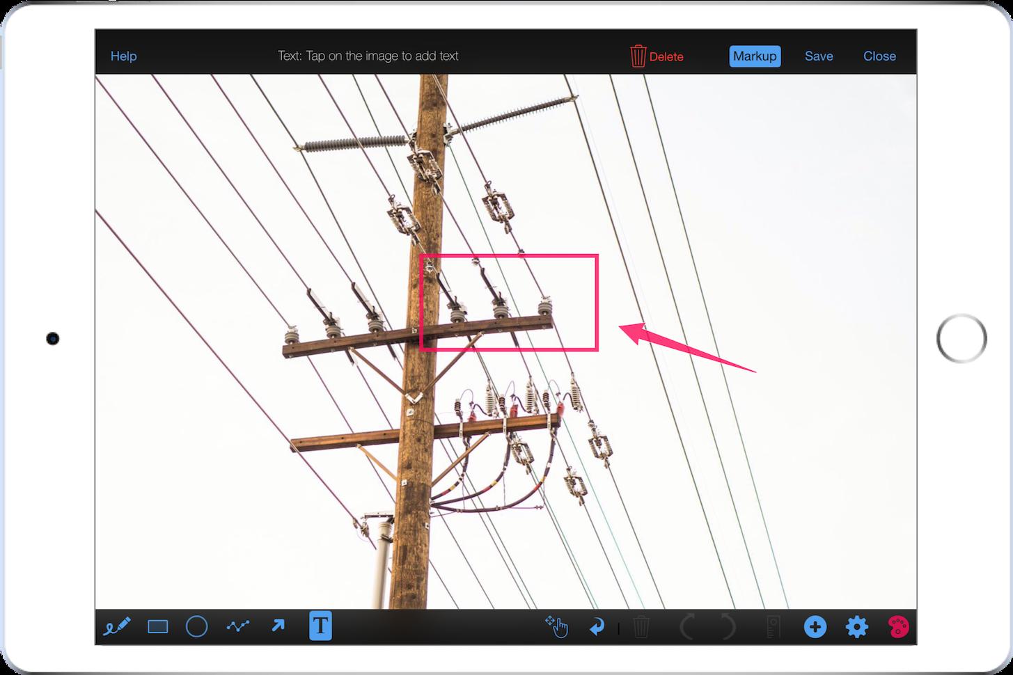 Field data capture photo markup