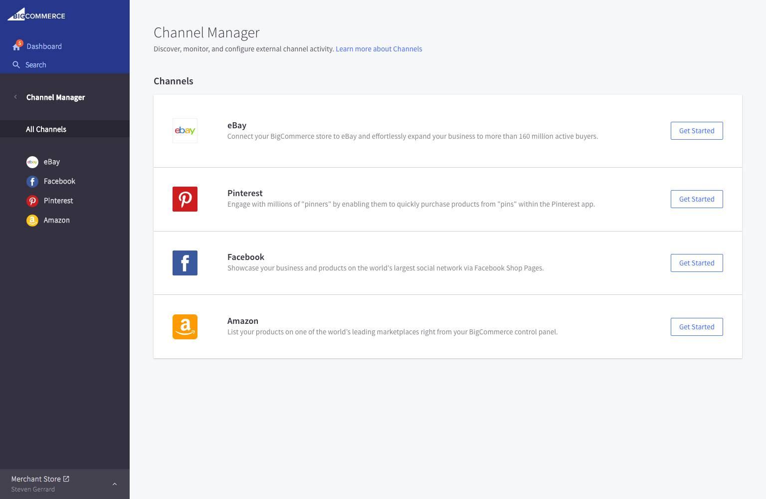 BigCommerce - channels