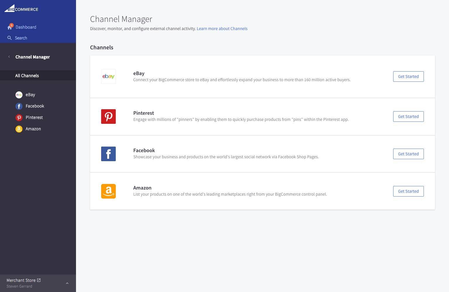 BigCommerce Software - BigCommerce - channels