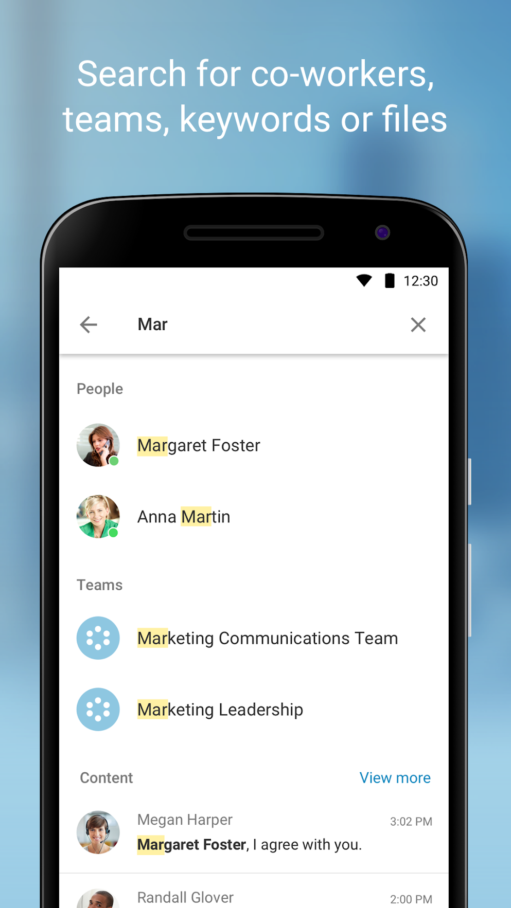 Create groups chats or one-to-one conversations
