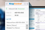 RingCentral Contact Center screenshot: Seamless integration between RingCentral and Salesforce CRM