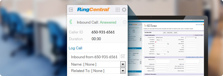 Seamless integration between RingCentral and Salesforce CRM