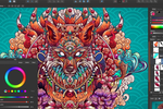 Affinity Designer Screenshot: Affinity Designer adjustment layers