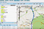 Geooco. Fleet Management screenshot: Real-time tracking technology allows users to see exactly where drivers are, as well as where they have been