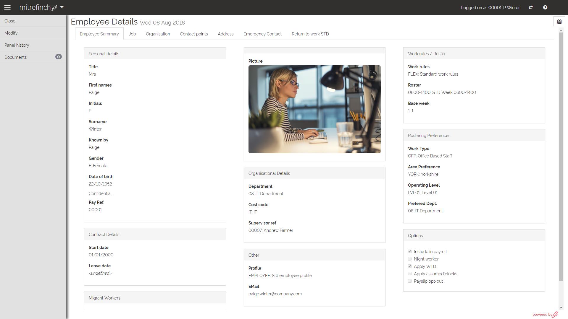 Mitrefinch Software - Employee details