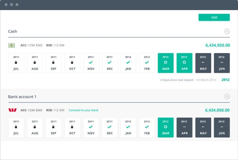 Reckon One Software - Reckon One cash flow management screenshot