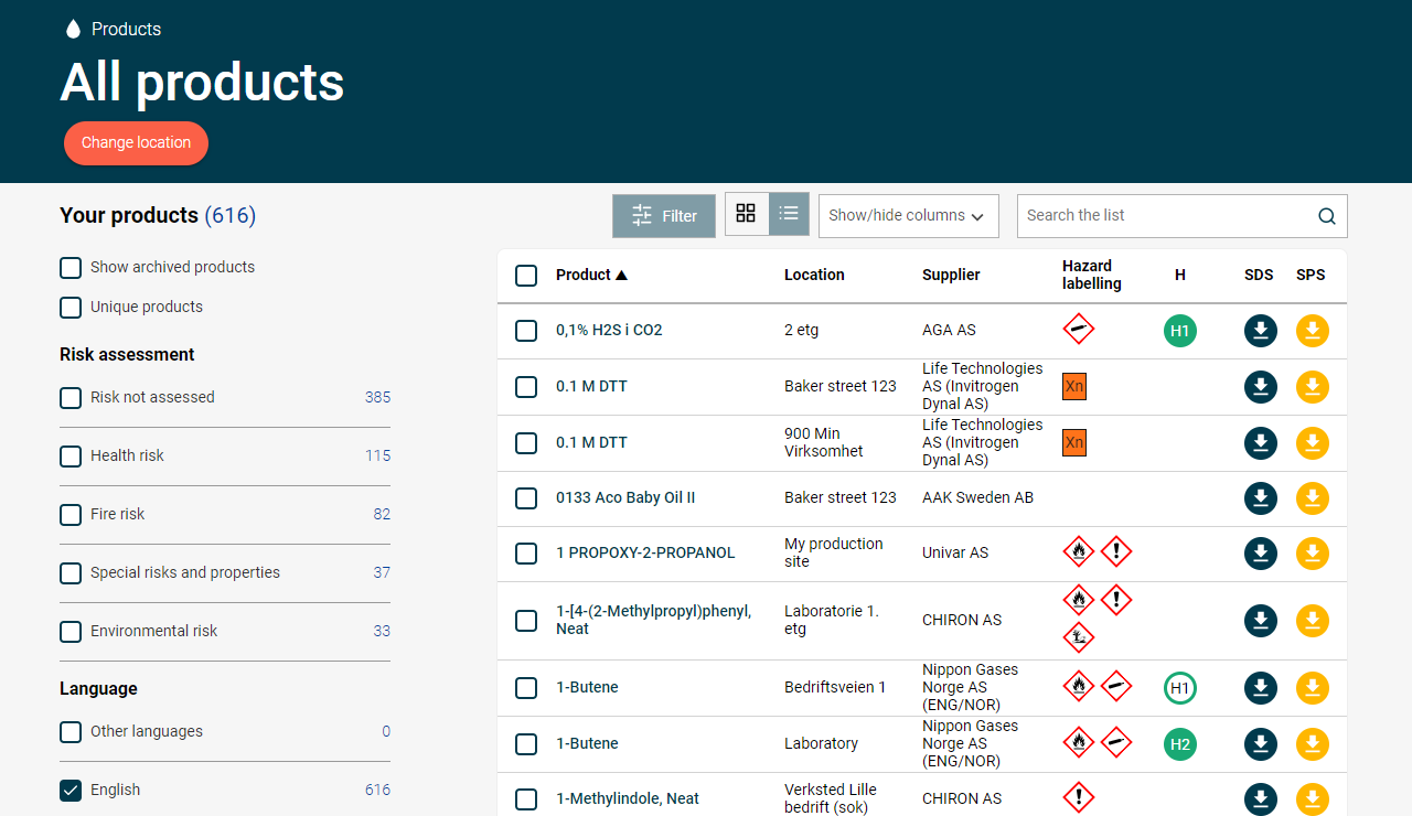 EcoOnline Platform Software - Take control of your SDS Management, risk assessments and chemical reporting.