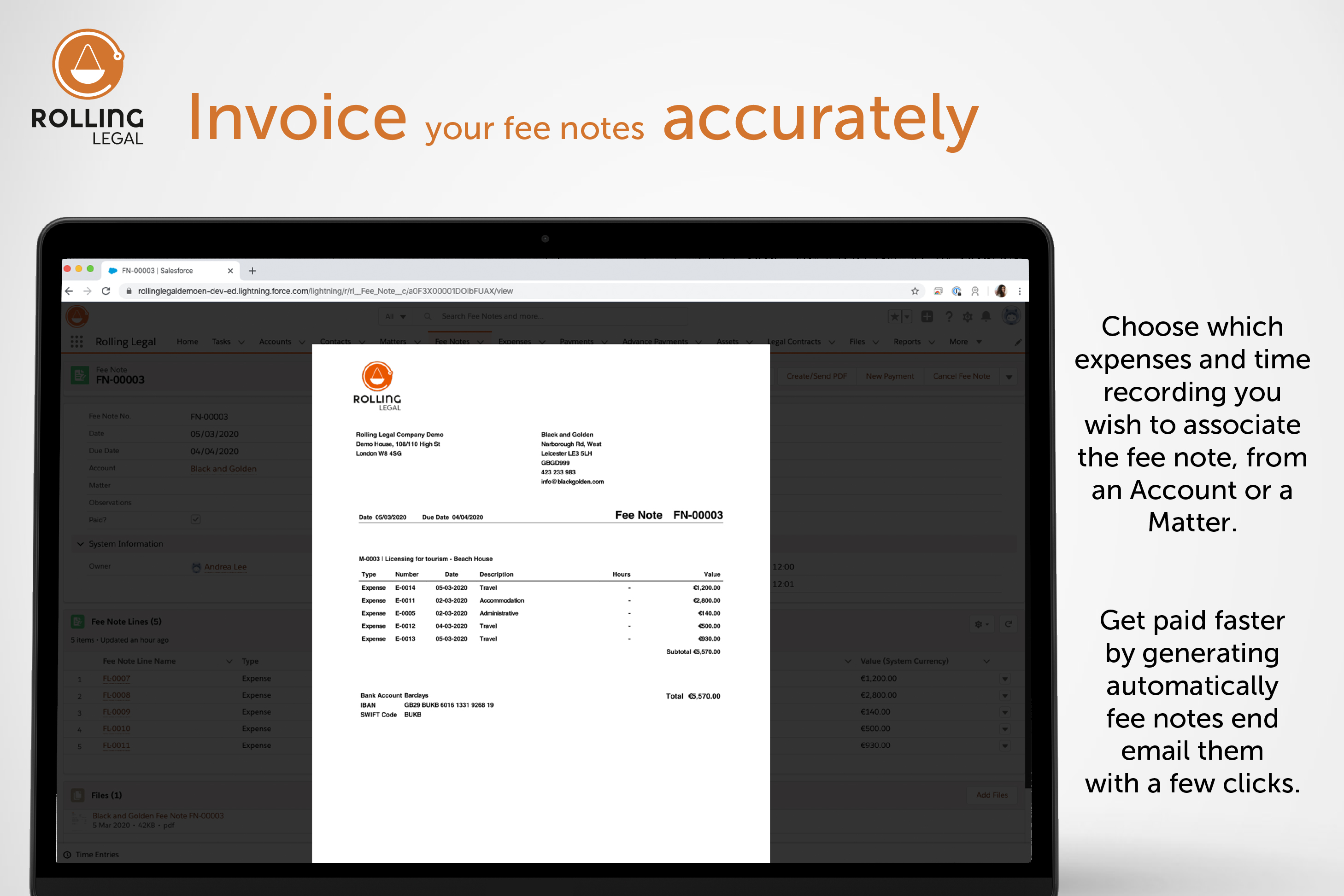 Rolling Legal: Invoice your fee notes accurately!