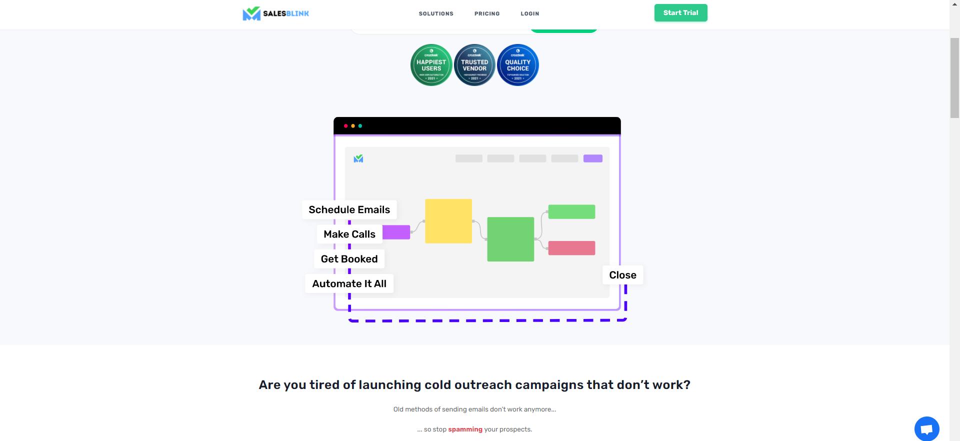 SalesBlink Homepage