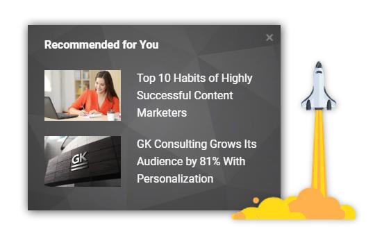 Alter screenshot: Content Recommendations