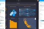 Capture d'écran pour Cumul.io : Use the styling editor in Cumul.io to create fully customized reports and dashboards