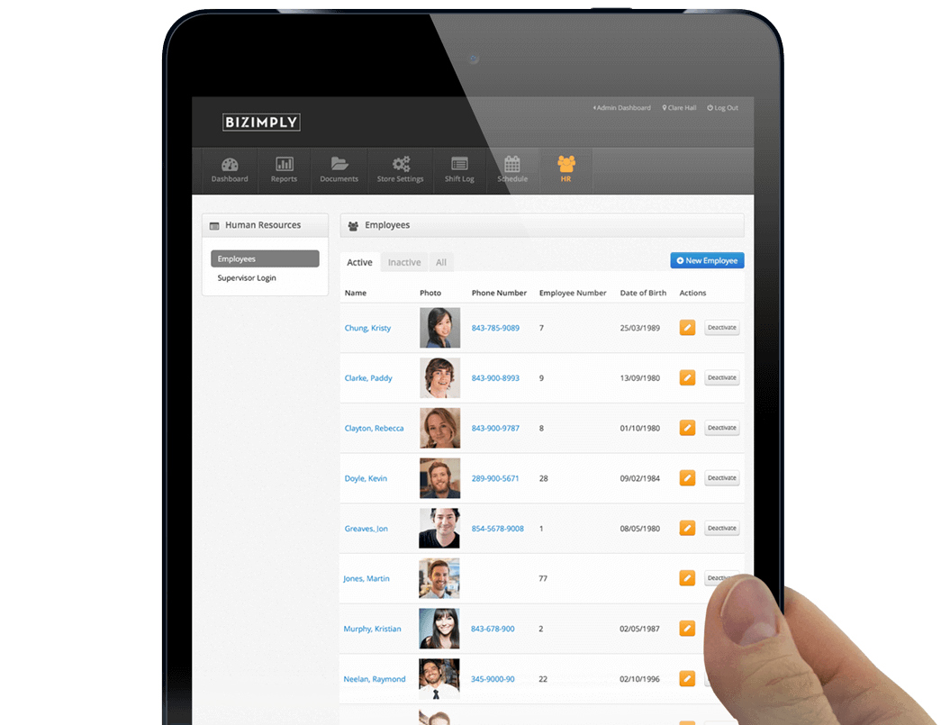 Keep all employee information from all locations in one place