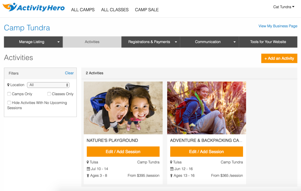 ActivityHero Software - Marketplace listing