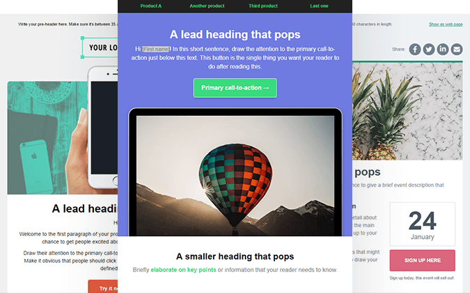 Edit, customize and send email campaigns