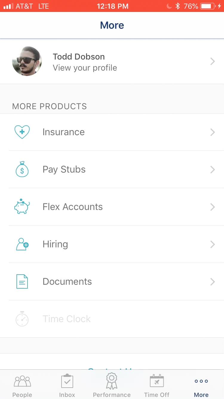 Zenefits - Mobile app