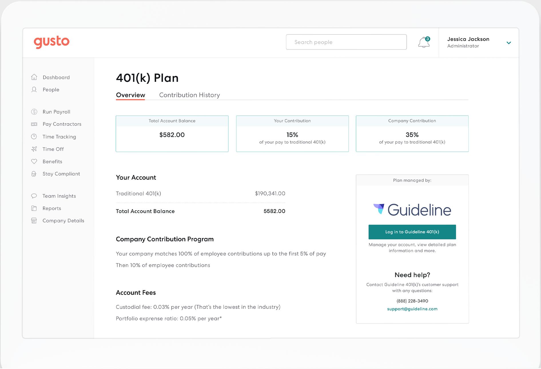Gusto Software - Gusto 401K plan