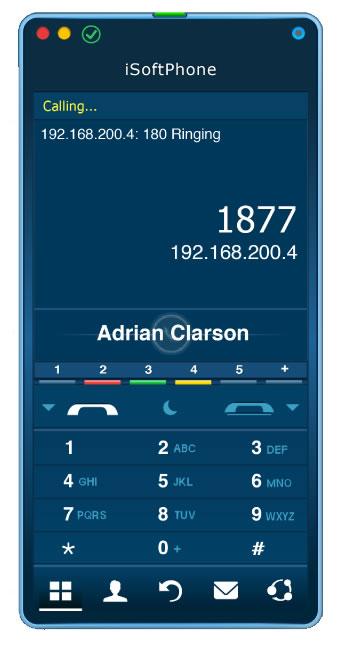 iSoftPhone screenshot: iSoftPhone direct calling