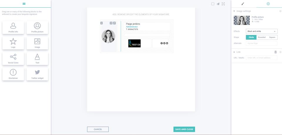 Letsignit Software - Letsignit create custom signatures