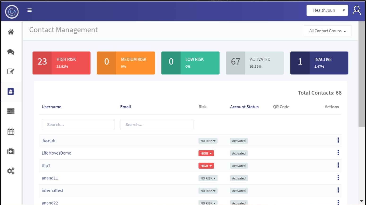 JourneyLabs contact management