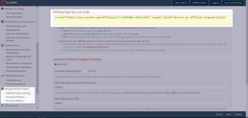 E-junkie link code
