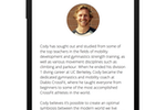 Zen Planner screenshot: Make the app more engaging by letting your members get to know your amazing instructors better. This app-only feature enables fitness business owners to provide instructor photos and bios for every class.