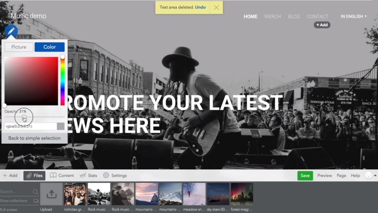 Voog webpage designing
