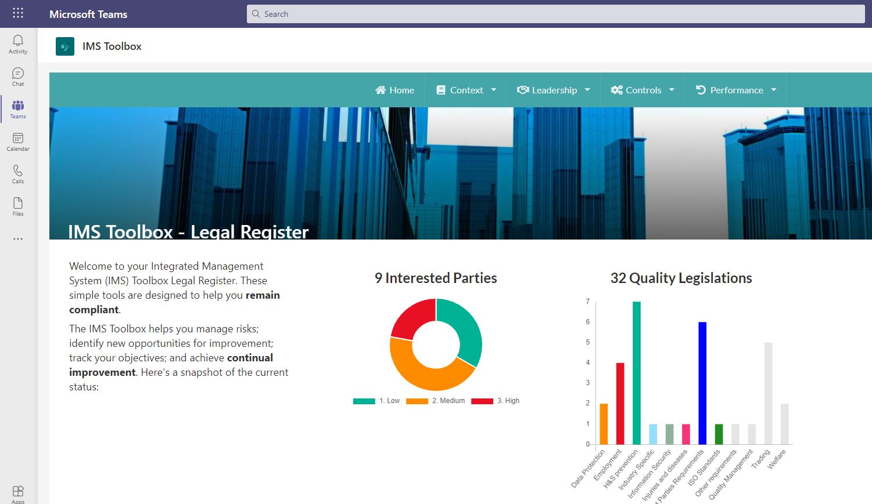ISOvA IMS Software - Legal Register