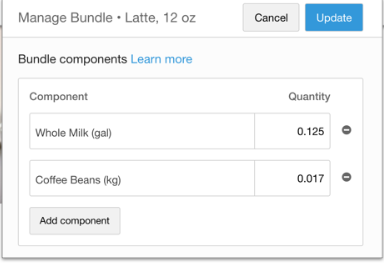Shopventory manage bundles screenshot
