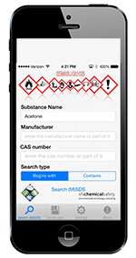 Utilize Chemical Safety Software's native mobile apps for iOS (iPhone and iPad), Android and Microsoft Surface