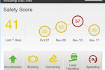 GreenRoad screenshot: Measure driving improvement over time with safety score