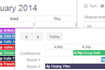 Teachworks screenshot: Six different calendar views provide a flexibility over finding schedule openings, while a range of filters assist with narrowing booking information down