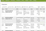 Now Commerce screenshot: List of pending orders to move into Quickbooks