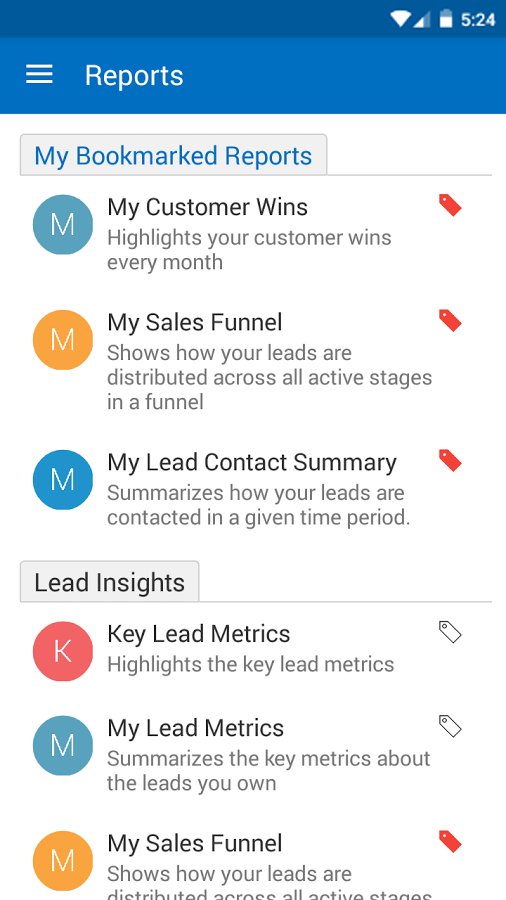 LeadSquared Software - Mobile reports
