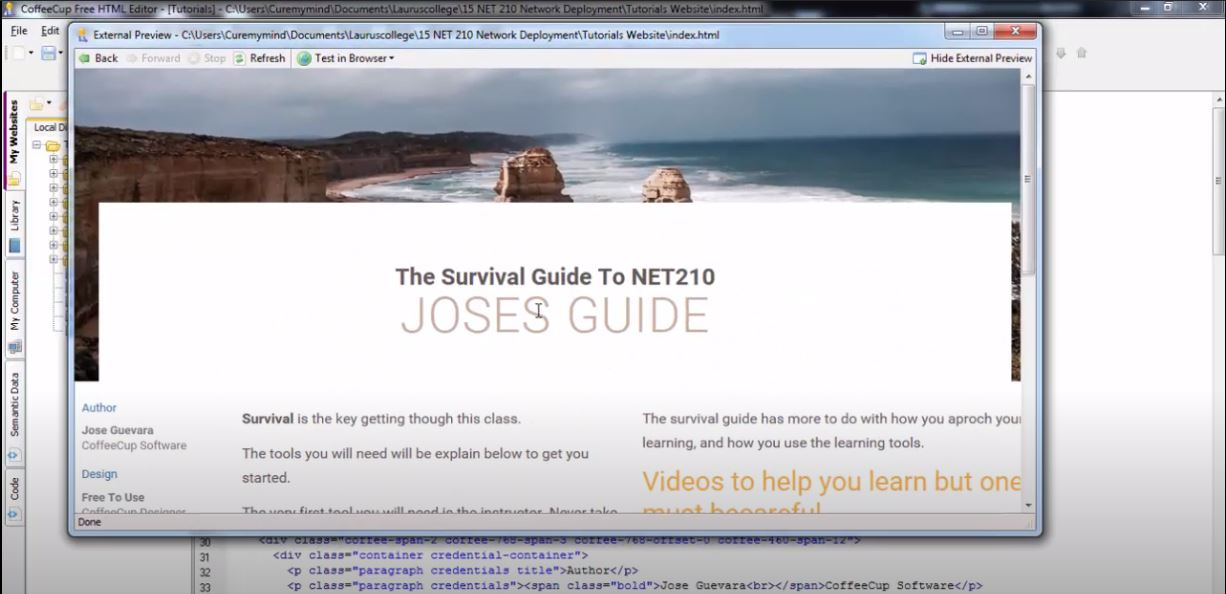 HTML Editor external preview