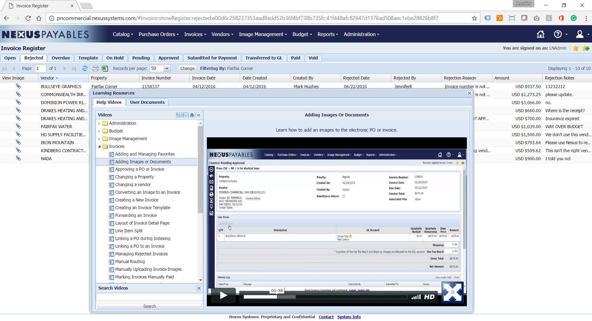 NexusPayables Software - Embedded user training