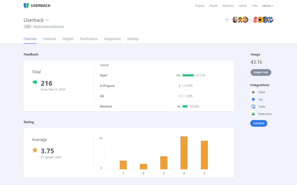 Userback helps you collect fast visual feedback from any webpage and design.