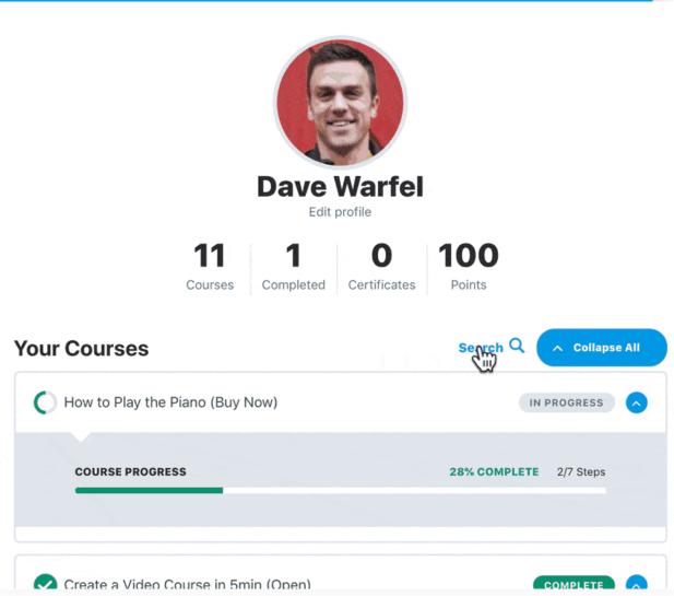 LearnDash learner profiles