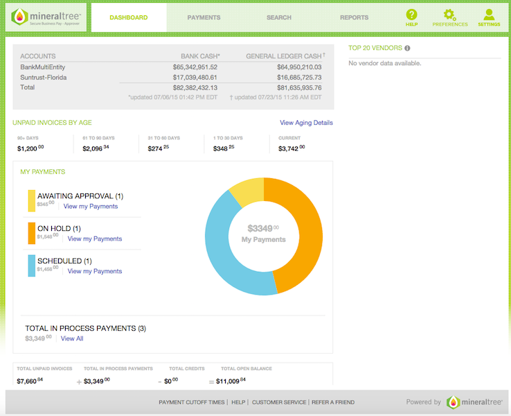 Payment Approver Dashboard
