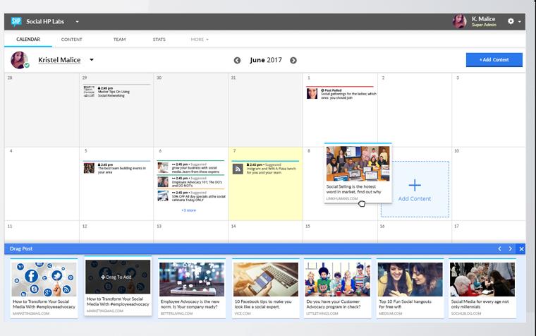 Social HorsePower content dashboard