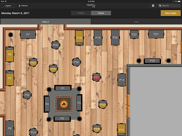 Configure restaurant and bar layouts to exactly match the establishment