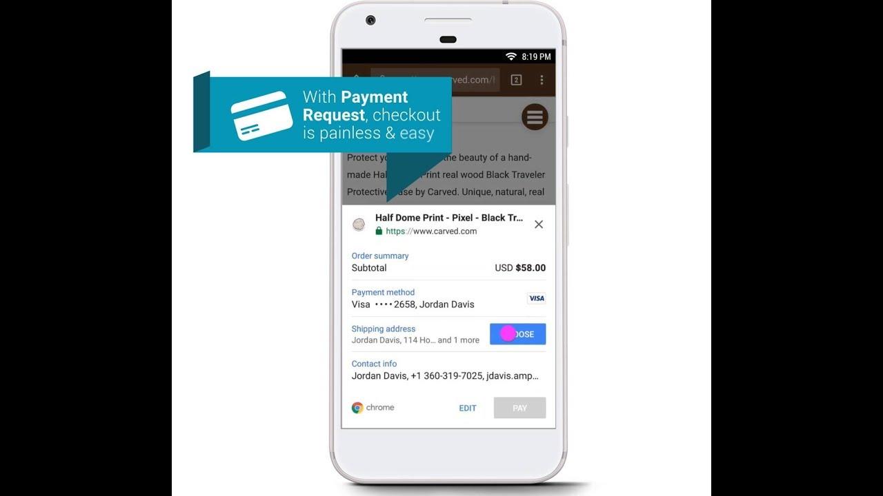 WompMobile payment request screenshot