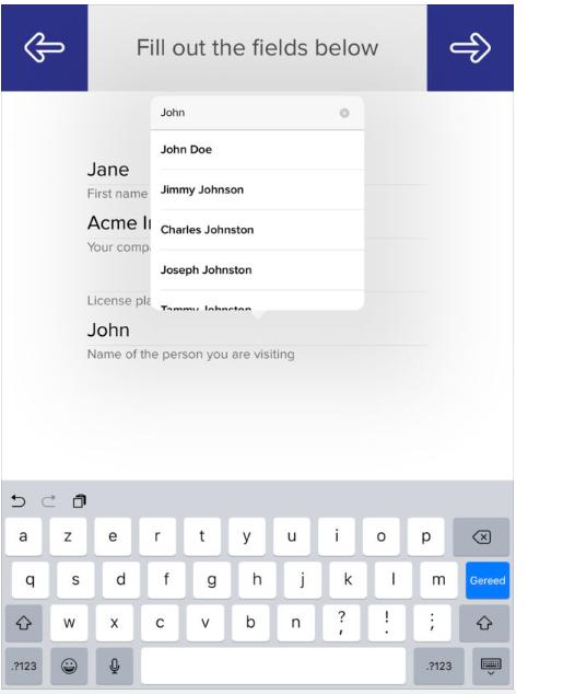 Self-service iPad check-in